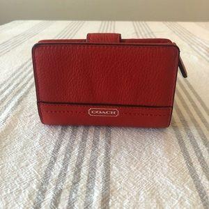 NWOT Orange/Red coach wallet